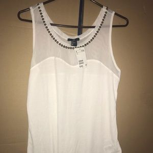 Studded sweetheart tank top large NWT